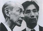 Yasunari Kituara con Kisshomaru Ueshiba